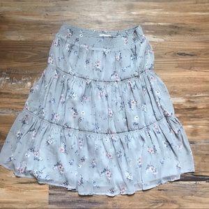 Sundance- Gray Lavender floral tiered skirt